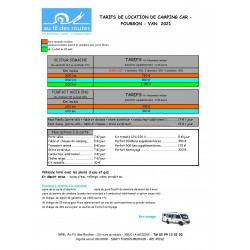 Tarif location camping-car...